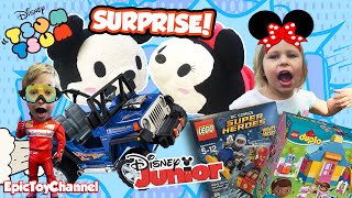 getlinkyoutube.com-GIANT POWER WHEELS DISNEY Surprise Tsum Tsum Surprise Lego Duplo Disney Junior by Epic Toy Channel
