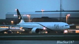 getlinkyoutube.com-Pakistan International Airlines Boeing 777-300ER (AP-BID) night takeoff from MAN/EGCC RWY 23R