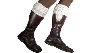 getlinkyoutube.com-How to Loom Knit Boot Cuffs (DIY Tutorial)