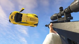 getlinkyoutube.com-SNIPE FLYING CARS! (GTA 5 Funny Moments)