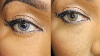 getlinkyoutube.com-Exotic Contact Lenses| Caramel Brown & Smoky Grey Desio Lenses