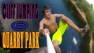 getlinkyoutube.com-Cliff Jumping at Quarry Park in St. Cloud