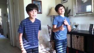 @RoneyBoys (Isaac & Ian) sing U Smile by Justin Bieber