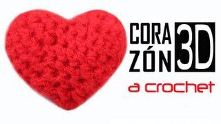 getlinkyoutube.com-Corazón 3D a Crochet - PASO A PASO