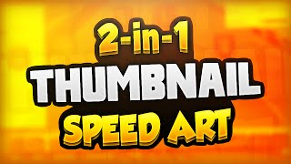 getlinkyoutube.com-2 in 1 Thumbnail Speed Art