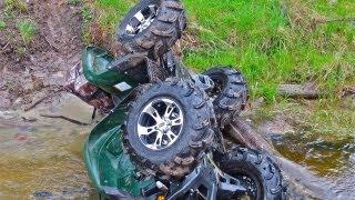 getlinkyoutube.com-Yamaha Grizzly Flips Over Backwards Into A Creek