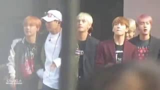 [FANCAM] 161008 Sorry Sorry (Leeteuk + BTS + GFriend + Twice) rehearsal + actual 방탄 직캠