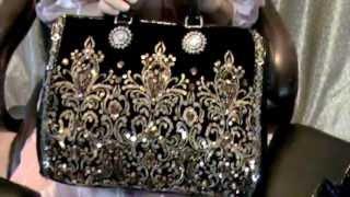 getlinkyoutube.com-Старинные сумочки вышитые бисером, стразами. Vintage handbags & Ameynra handbag