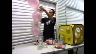 getlinkyoutube.com-Como crear una columna con globo bipolo - Decoraciones con globos