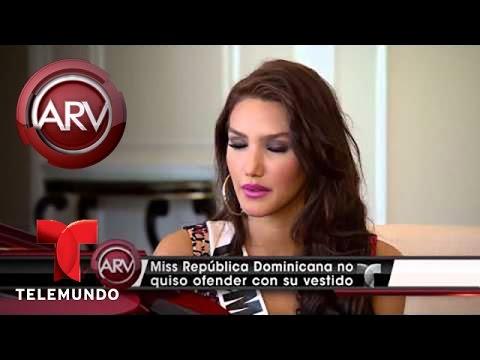 Critican traje típico de Miss República Dominicana por tener imagen de la Virgen (VIDEO)