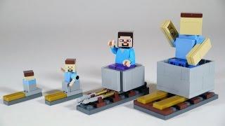 getlinkyoutube.com-How To Build LEGO Minecraft Minecart & Rails