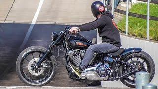 getlinkyoutube.com-Harley Davidson Breakout Friends Season Start 19.03.16