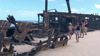 getlinkyoutube.com-Fraser Island camping trip Jeep Wrangler jk beach offroading