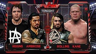 getlinkyoutube.com-WWE RAW 6/1/15 : Roman Reigns & Dean Ambrose vs Seth Rollins & Kane Match HD!