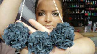 getlinkyoutube.com-DIY: Flower PomPom Necklace ♡ Theeasydiy #FashionDIY