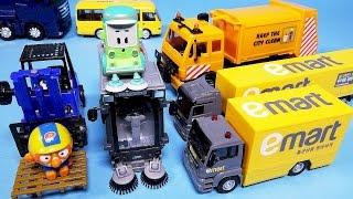 getlinkyoutube.com-타요 헬로카봇 뽀로로 로보카폴리 와 [이마트 카 출동 시티서비스] 파워레인저 다이노포스 Pororo & E-mart City Service car toys