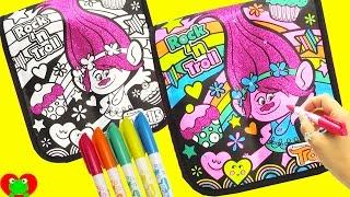 getlinkyoutube.com-Cra-Z-Art Trolls Poppy Glitter Messenger Bag Coloring and Design with Surprises