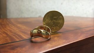 getlinkyoutube.com-How to make a ring out of a coin