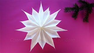 getlinkyoutube.com-Sterne basteln mit Papier-Butterbrottüten - Weihnachtssterne - Weihnachtsdeko - DIY Weihnachten