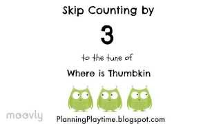 Skip Counting by 3's - To Where is Thumbkin