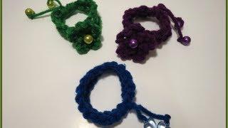 getlinkyoutube.com-Crochet Chain Bracelet For Beginner - كروشيه إسورة السلاسل للمبتدئين