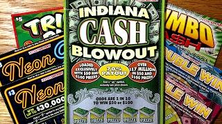 getlinkyoutube.com-7X Hoosier Lottery Scratch Offs!