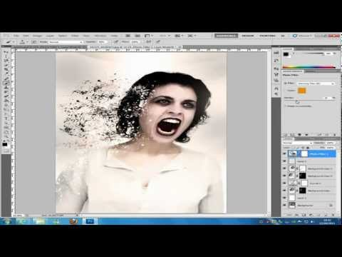 Photoshop dispersion effect CS5  tutorial