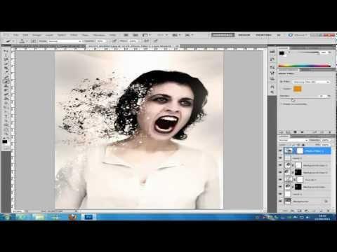 Photoshop dispersion effect CS5  tutorial