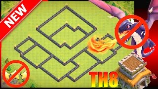 New Town Hall 8 War Base (Anti-3 Star Th8) With Proof/Replays || Anti-Drag, ZapQuake, Hog Attacks