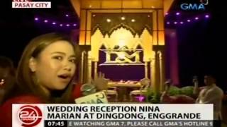 24 Oras: Wedding reception nina Marian at Dingdong, enggrande