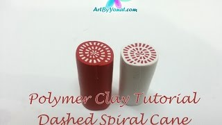 getlinkyoutube.com-Polymer Clay Tutorial - How to Make a Dashed Spiral Cane - Lesson #10