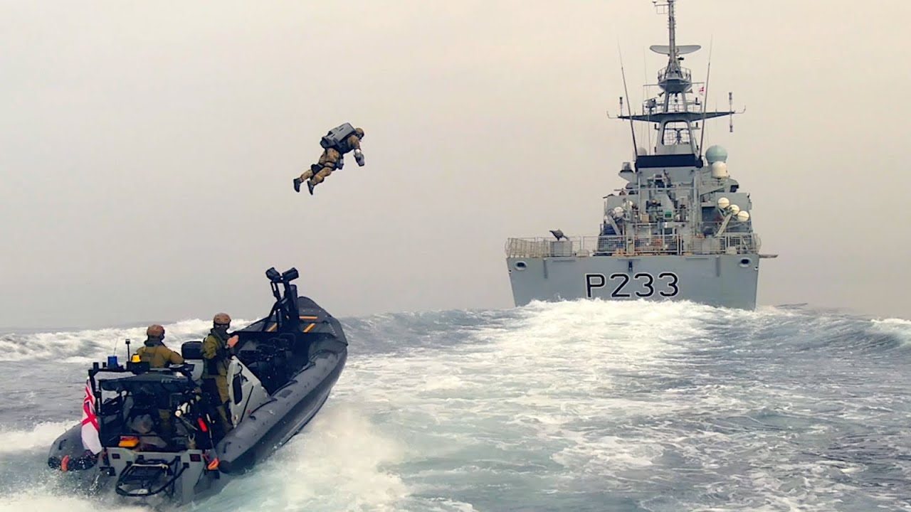Future Tech : Royal Marines Jet Suit Boarding Exercise