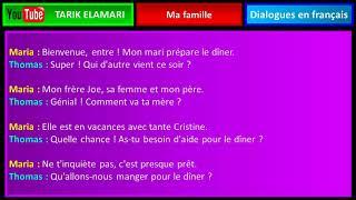 Dialogue en français Niveau A1 32 french conversation  Ma famille