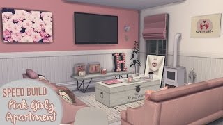 getlinkyoutube.com-PINK GIRLY APARTMENT [APARTMENT BUILDING #2] | The Sims 4 Speed Build