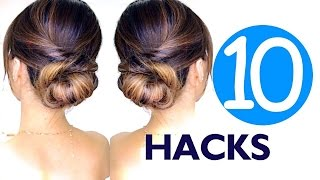 getlinkyoutube.com-★ 10 LAZY Girls Hair HACKS & Hairstyles | Hairstyle EASY!
