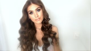 getlinkyoutube.com-♡ Heatless Hollywood inspired curls / waves| no heat hair tutorial ♡