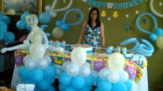 getlinkyoutube.com-Decoracion Baby Shower - Baby shower balloon decoration
