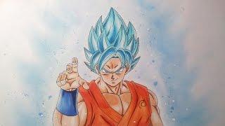 getlinkyoutube.com-Drawing Goku Super Saiyan Blue – Super Saiyan God Super Saiyan - Resurrection F'