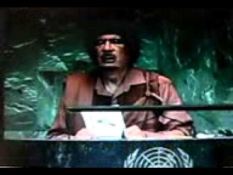 YouTube - Translation of Kaddafi_ Kadafi _ Gadafi _ Gaddafi _ Qaddafi_ Qadafi _ Daffy Duck at UN. ( Conan)