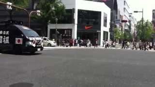 getlinkyoutube.com-街宣右翼のすごい車  憲法記念日 暴力団