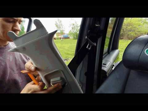Range Rover снятие боковых стоек в салоне