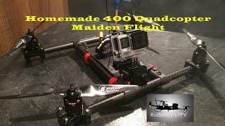 getlinkyoutube.com-Homemade 400 Quadcopter Maiden Flight