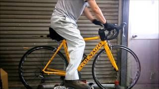 getlinkyoutube.com-ロードバイクちょー初心者のあらシックス 初めての三本ローラー