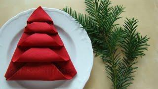 getlinkyoutube.com-Servietten falten - Tischdeko Weihnachten - Weihnachtsdekoration selber machen - DIY Weihnachten