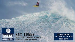 getlinkyoutube.com-Kai Lenny at Jaws 2 - 2017 Billabong Ride of the Year Entry - WSL Big Wave Awards