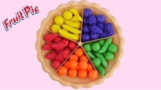 getlinkyoutube.com-Learn Colors Fruits Sorting Pie Play Doh Balls Strawberry Molds Creative Kid Fun SparkleSpiceFun.com