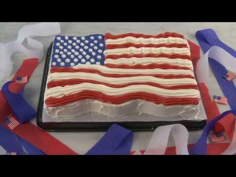 Cake Recipes - American Flag Cake