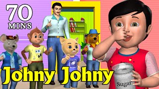 Johny Johny Yes Papa Nursery Rhyme - Kids' Songs - 3D Animation English Rhymes For Children width=