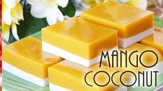 getlinkyoutube.com-Mango Coconut Agar Agar Dessert-(RECIPE)ココナツ・マンゴーゼリーは美味しかった!