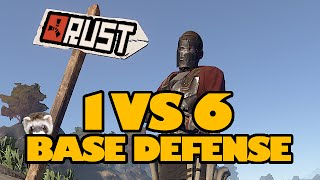 getlinkyoutube.com-Rust: 1v6 Base Defense!